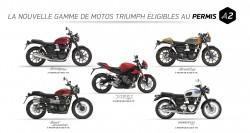 "La Gamme Triumph ""Permis A2"""